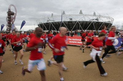 London 2012 Princess Beatrice Joins Thousands in Olympic Park Run