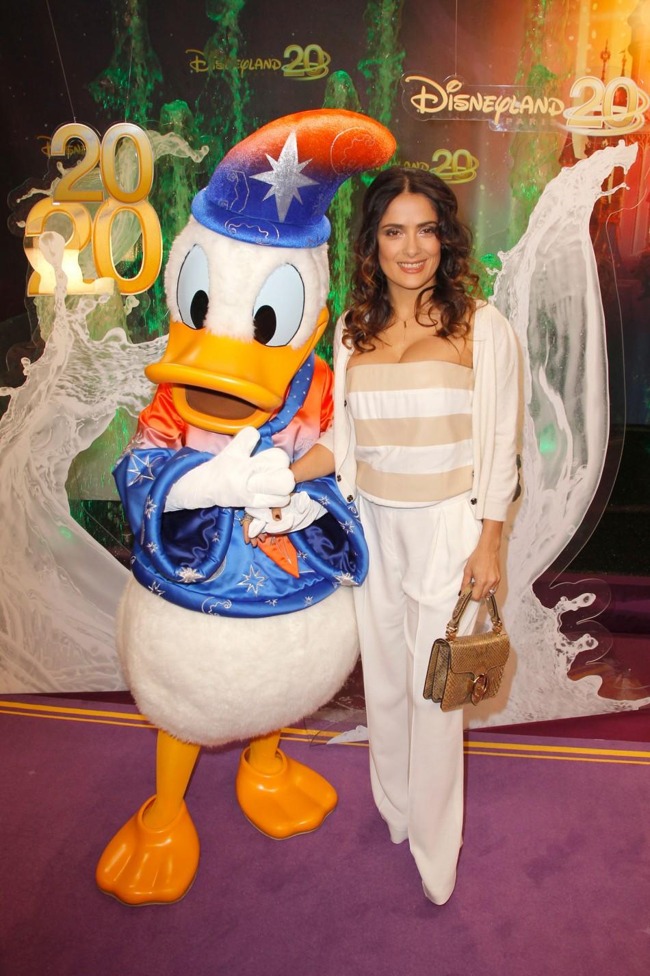 From Salma Hayek to Katie Melua Celebs at 20th Paris Disneyland Resort Anniversary Celebrations