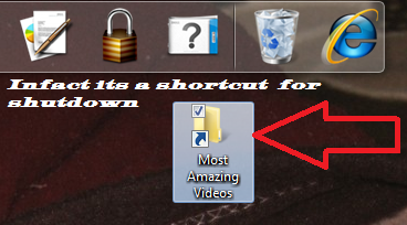 Shutdown Shortcut Disguised as a Folder Icon