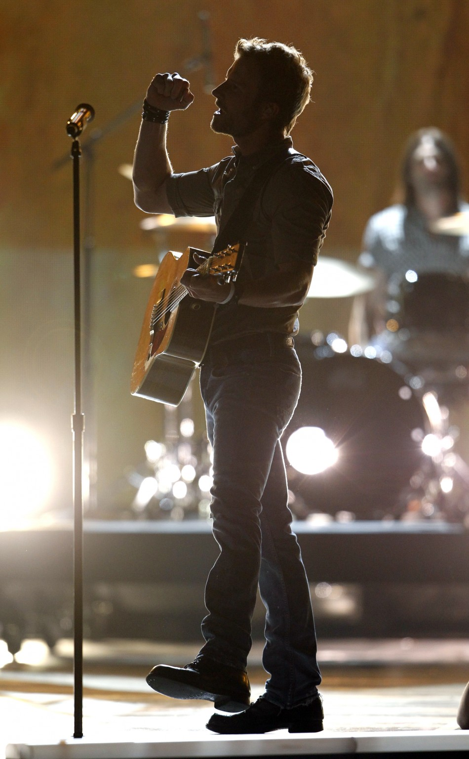 "Dierks Bentley performs ""Home"" at the 47th annual Academy of Country Music Awards in Las Vegas"