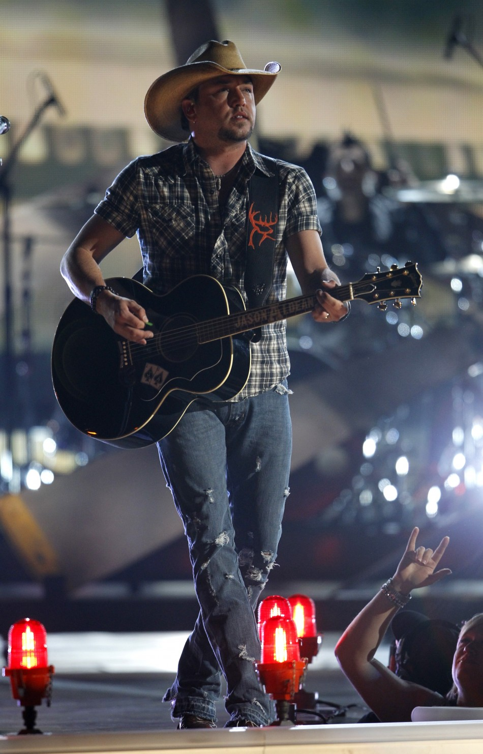 "Jason Aldean performs ""Fly Over States"" at the 47th annual Academy of Country Music Awards in Las Vegas"