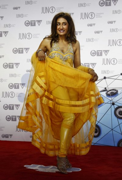 Recording artist Kiran Ahluwalia arrives on the red carpet during the 41st Juno Awards in Ottawa