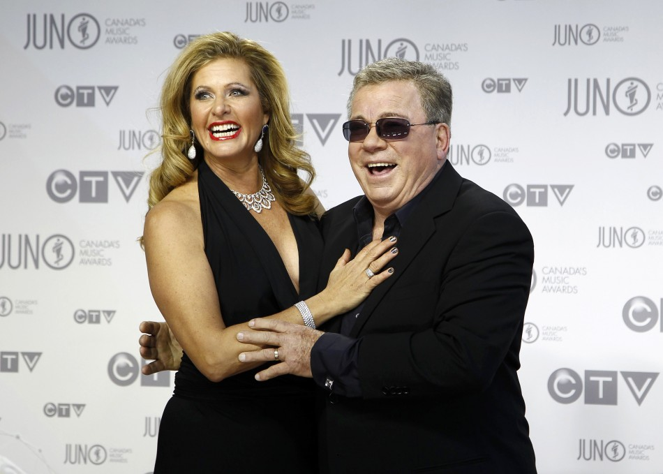 Host Shatner and his wife Elizabeth arrive on the red carpet during the 41st Juno Awards in Ottawa