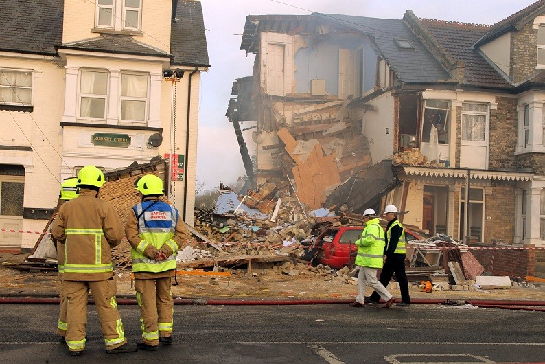 Clacton House Collapsed