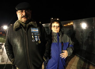Falklands War veteran Hector Jacinto Lucero L and his wife Maria del Carmen