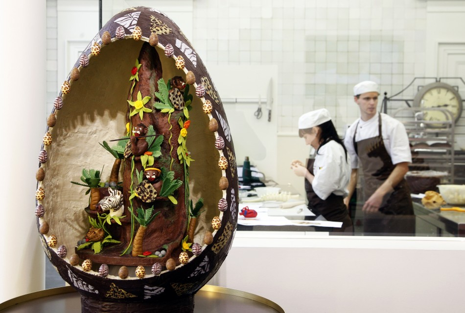 A chocolate easter egg is pictured in Antwerp