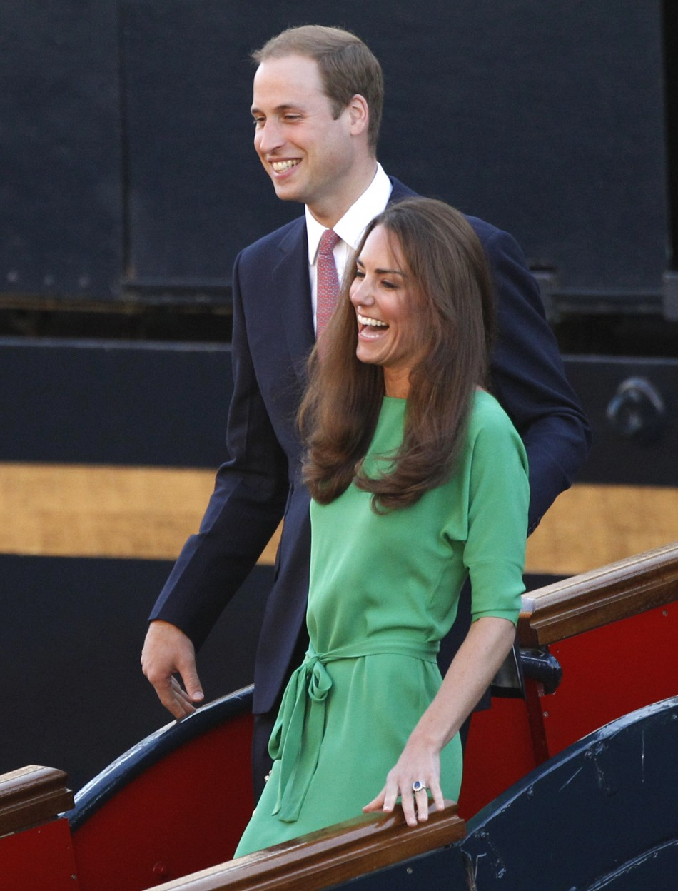 Prince William and his wife Catherine, the Duchess of Cambridge