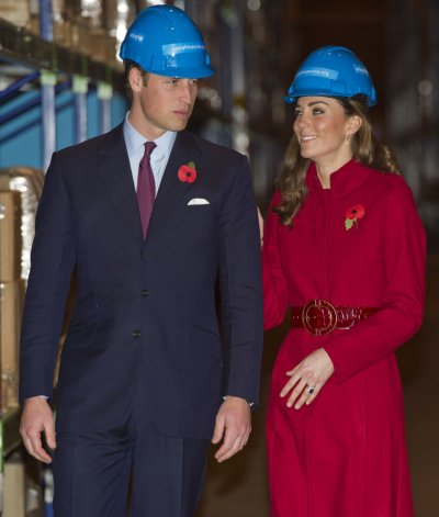 Britains Prince William and Catherine, Duchess of Cambridge visit the UNICEF emergency supply centre in Copenhagen