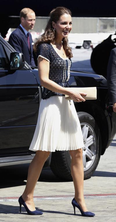 Britains Catherine, Duchess of Cambridge, departs Los Angeles International Airport