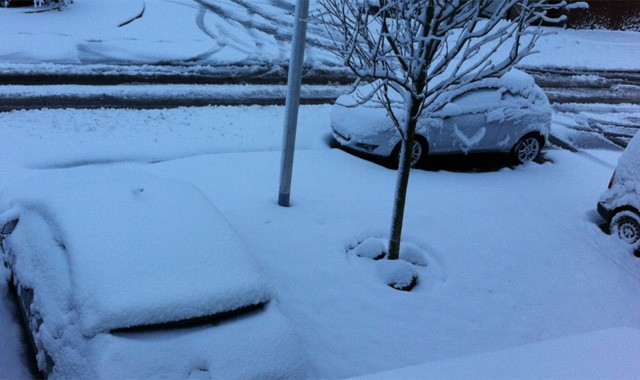 More than 18cm of snow fell in four hours in parts of Scotland (Dianne Smith/Sky)
