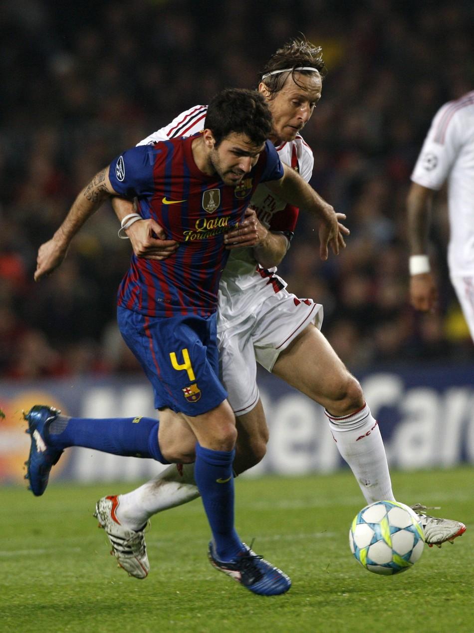 Soccer - Barcelona v AC Milan Champions League - Quarter Finals - Second Leg - Nou Camp