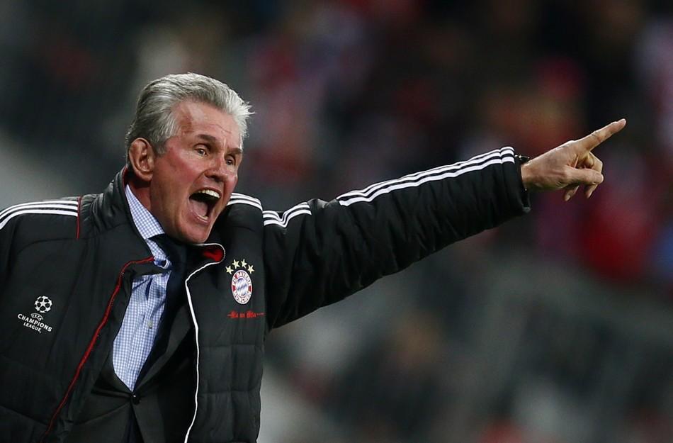 Bayern Munich  Coach Jupp Heynckes