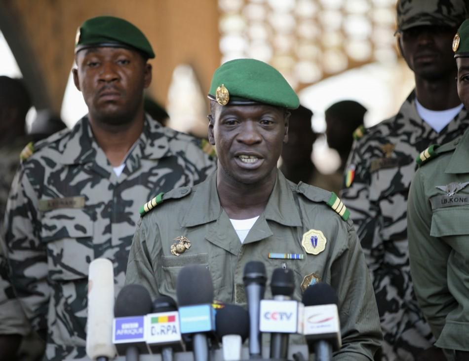 Coup leader Amadou Sanogo at his headquarters in Kati