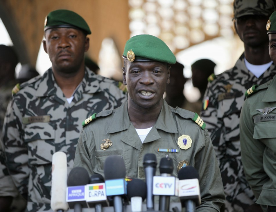 Coup leader Amadou Sanogo at his headquarters in Kati