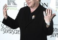 """Musician Sir Elton John arrives for the benefit show """"Songs From the Silver Screen"""" to raise funds for The Rainforest Trust at Carnegie Hall in New York"""