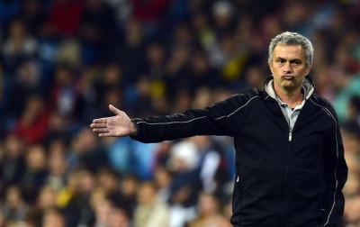 Real Madrids manager Jose Mourinho