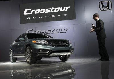 The Honda Crosstour concept automobile is seen at the 2012 International Auto Show in New York