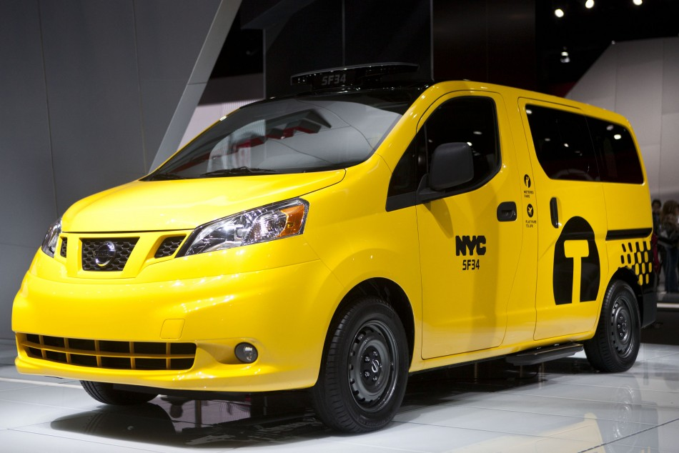 The Nissan NV200 taxi van is seen during the 2012 New York International Auto Show in New York