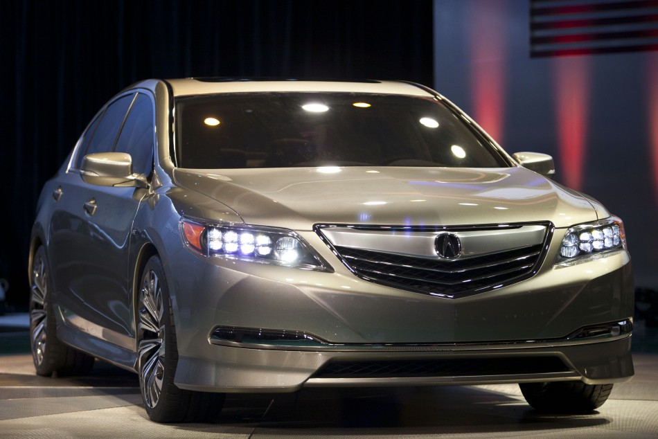 The new Acura RLX Concept is introduced during the 2012 New York International Auto Show at the Javits Center in New York