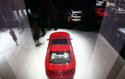 The Audi RS 5 automobile is seen at the 2012 International Auto Show in New Yor