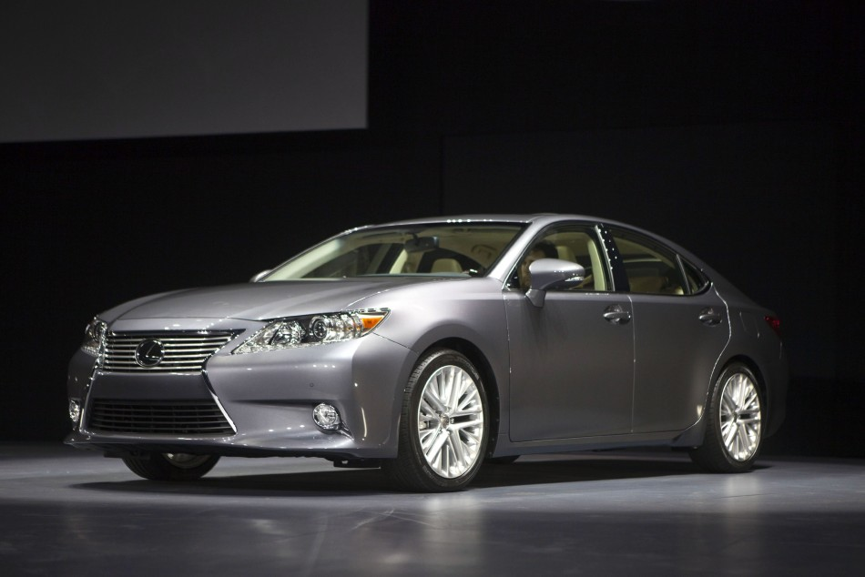 The Lexus ES350 is seen at the cars unveiling during the 2012 New York International Auto Show in New York