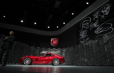 The 2013 Chrysler SRT Viper is seen at the 2012 International Auto Show in New York