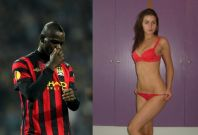 Mario Balotelli and Jennifer Thompson