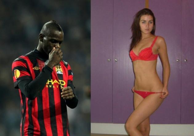 Mario Balotelli and Jennifer Thompson
