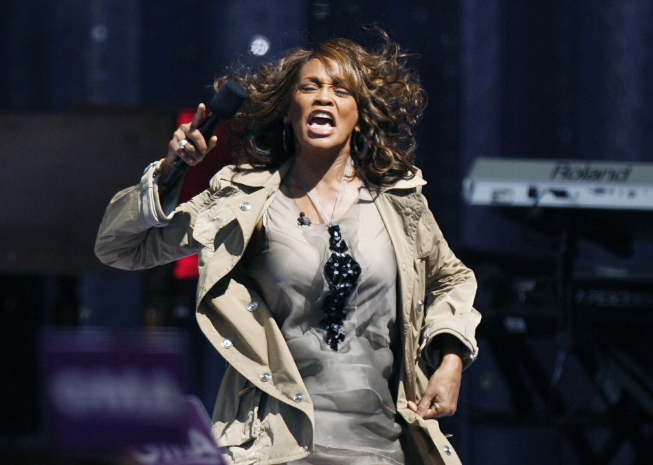 Singer Whitney Houston performs during a taping of Good Morning America on ABC in New York