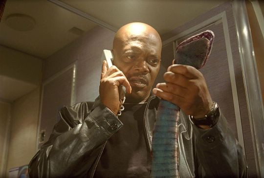 Samuel L Jackson starred in cult film Snakes on a Plane