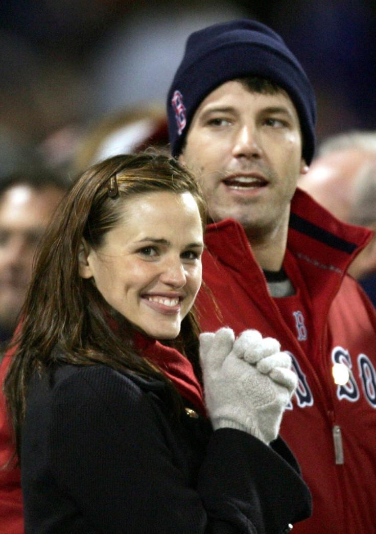 Ben Affleck and Jennifer Garner (Red Sox)