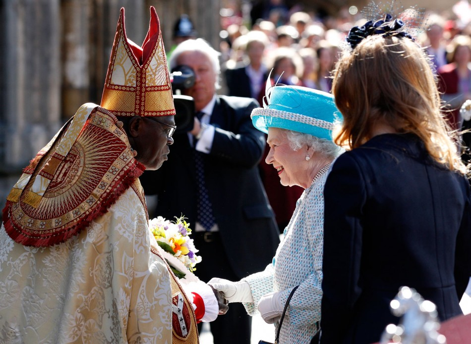 Queen Elizabeth II Presents Traditional Maundy Money to UK Pensioners