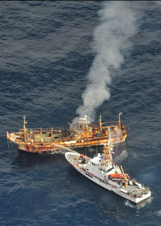 Abandoned Tsunami Ghost Ship Sinks Off Alaskan Coast Photos