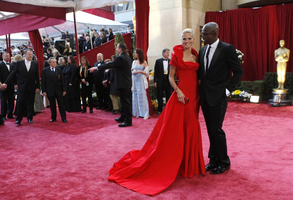 Model Heidi Klum and her husband musician Seal arrive at the 80th annual Academy Awards in Hollywood