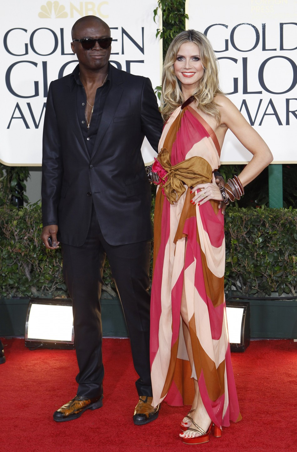 Seal and Heidi Klum arrive at the 68th annual Golden Globe Awards in Beverly Hills
