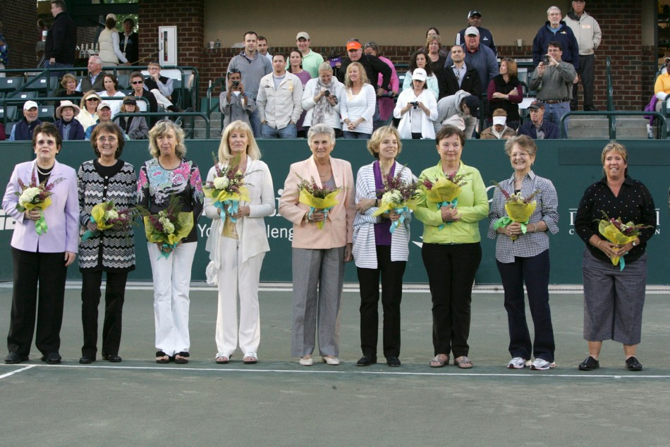 Rare Undated Pictures of the 'Original Nine' WTA Starters