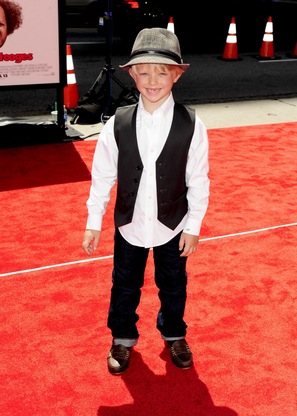 "Actor Jake Peck arrives at the Hollywood premiere of ""The Three Stooges: The Movie"" in Los Angeles, California"