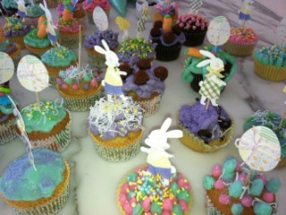Easter cup cakes made by Victoria