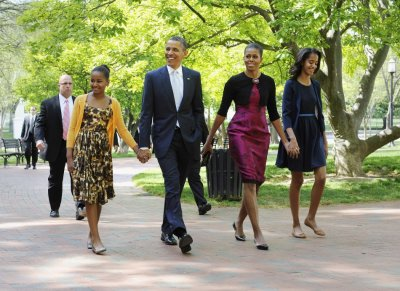 First Family Walking to the Church