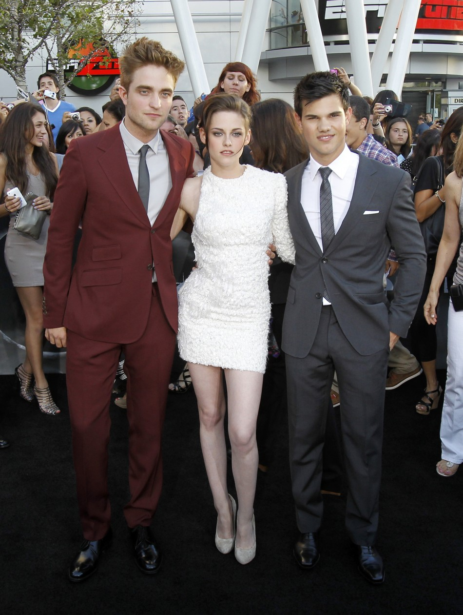 "Pattinson, Stewart and Lautner pose at the premiere of ""The Twilight Saga: Eclipse"" during the Los Angeles Film Festival at Nokia theatre at L.A. Live in Los Angeles"
