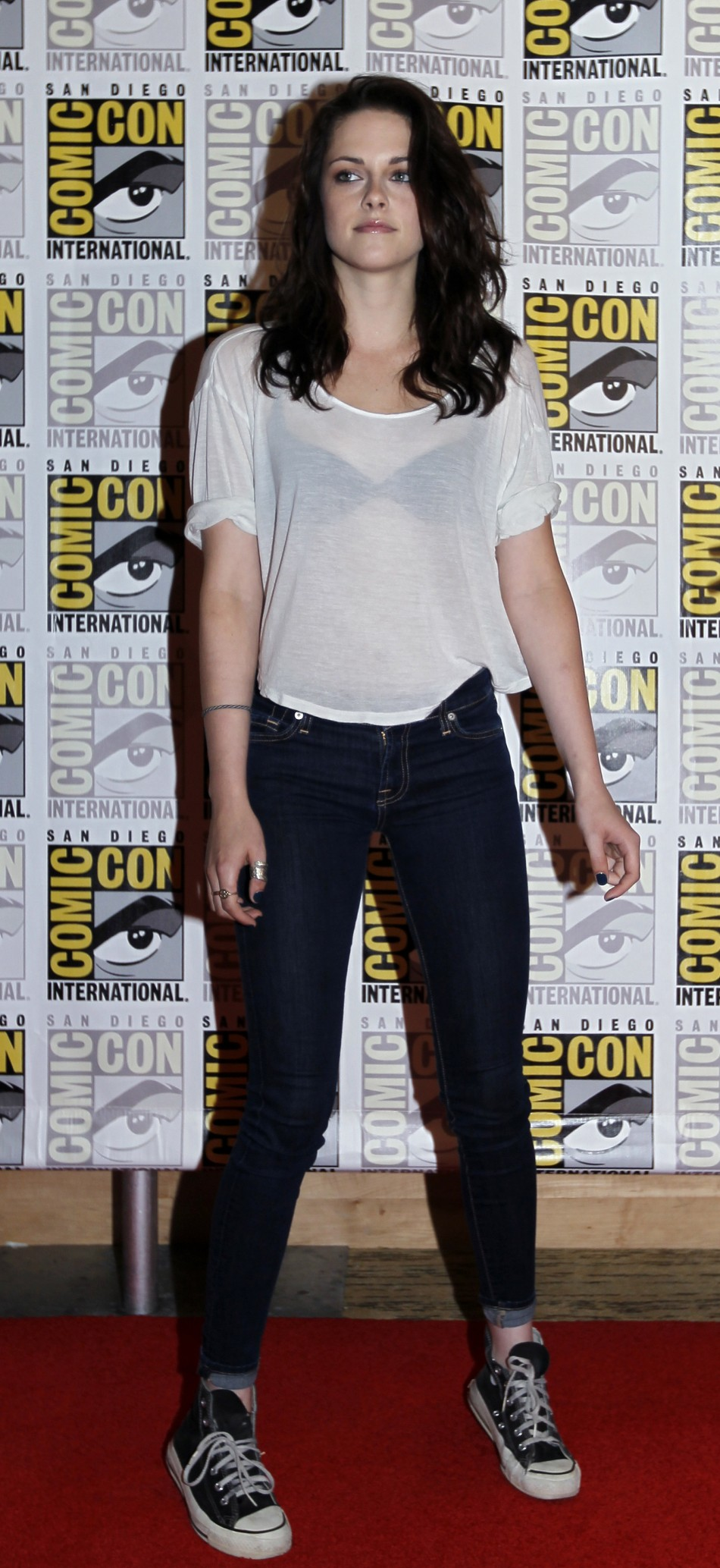 "Actress Kristen Stewart poses to promote ""Breaking Dawn"" from the Twilight Saga at Comic Con in San Diego"