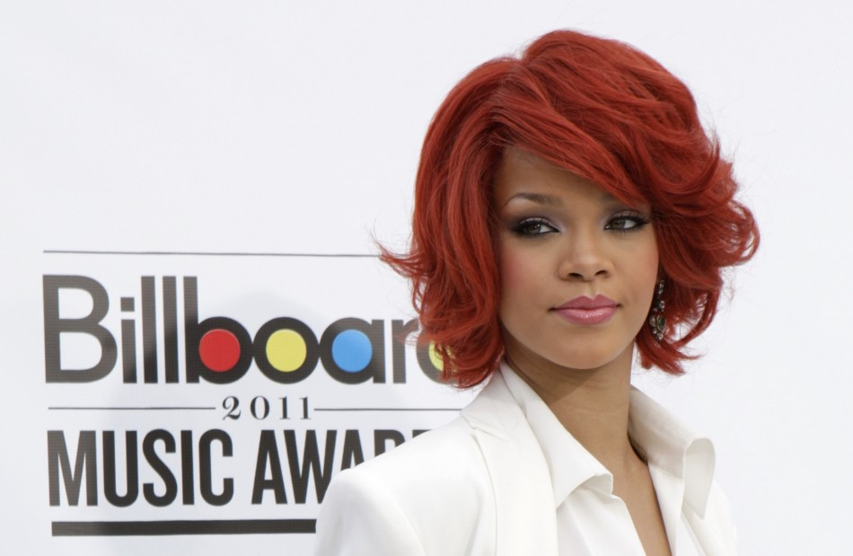 Singer Rihanna arrives at the 2011 Billboard Music Awards show in Las Vegas