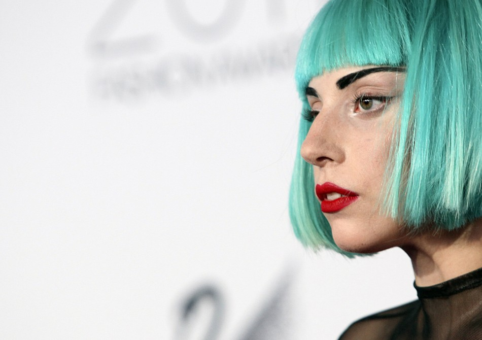 Lady Gaga looks on on the red carpet at the CFDA Fashion awards at the Lincoln Centers Alice Tully Hall in New York City