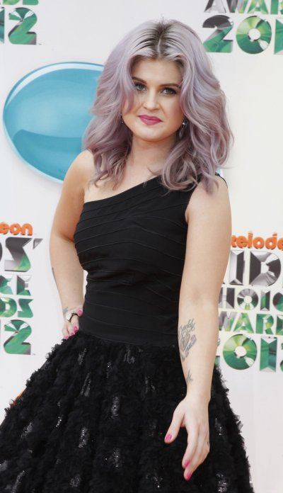 Actress Kelly Osbourne poses at Nickelodeons 25th annual Kids Choice Awards in Los Angeles