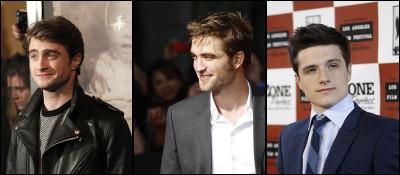 Daniel Radcliffe, Robert Pattinson  Josh Hutcherson