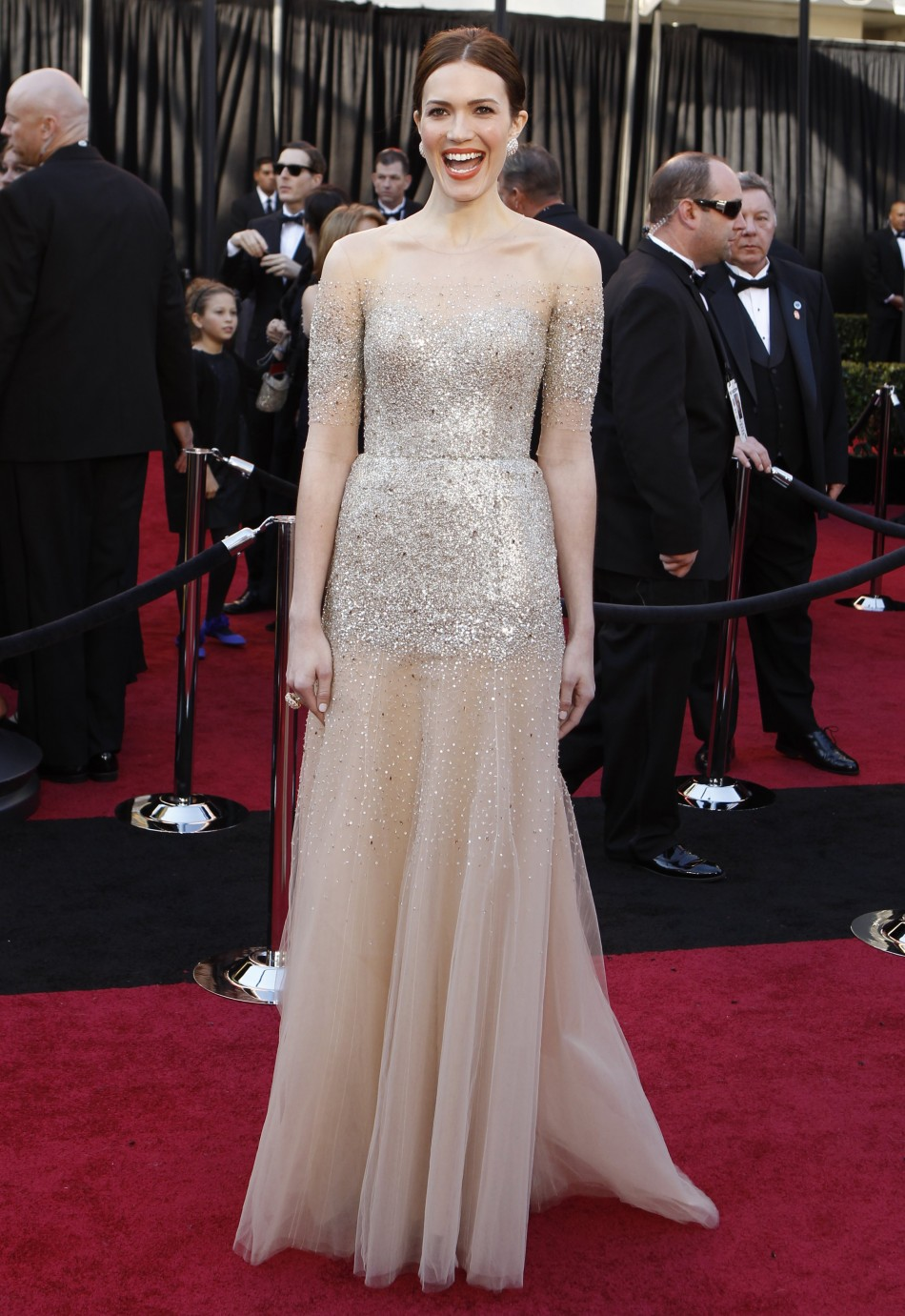 Mandy Moore arrives at the 83rd Academy Awards in Hollywood