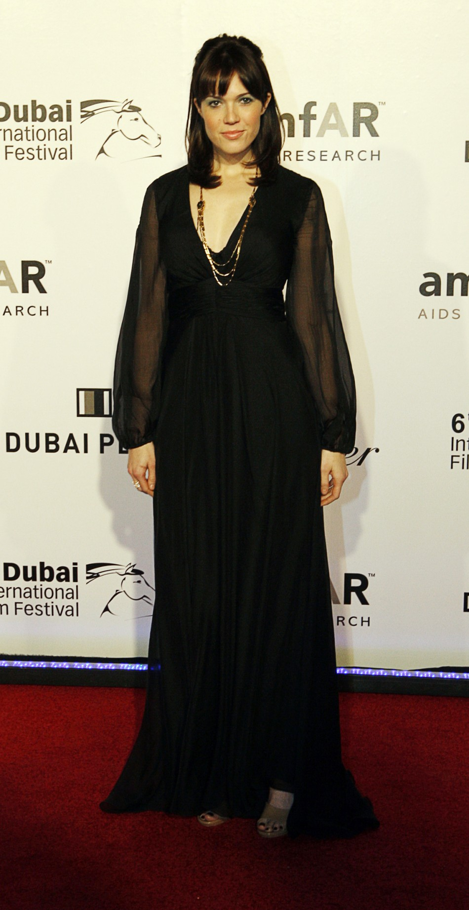 U.S. actress Mandy Moore arrive for the Auction for Cinema Against Aids during the Dubai International Film festival in Dubai