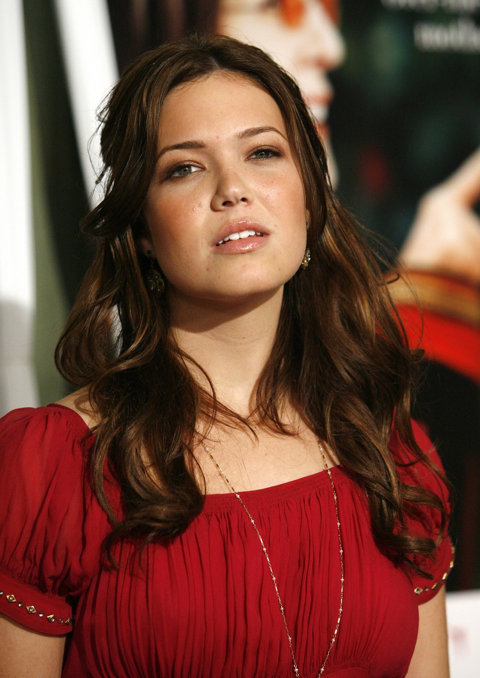 Mandy Moore poses at the world premiere of Because I Said So in Los Angeles