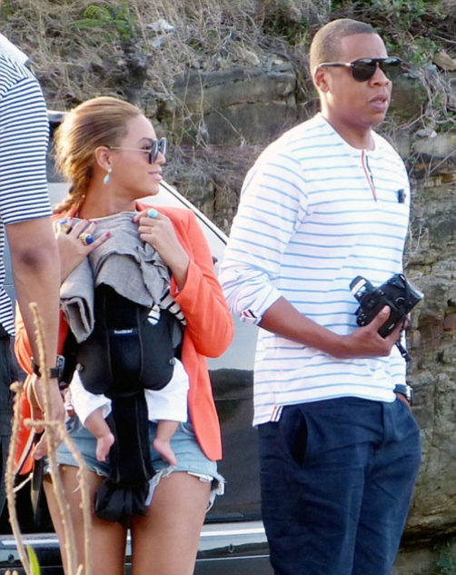 Beyoncé and Jay-Z in St Bart's