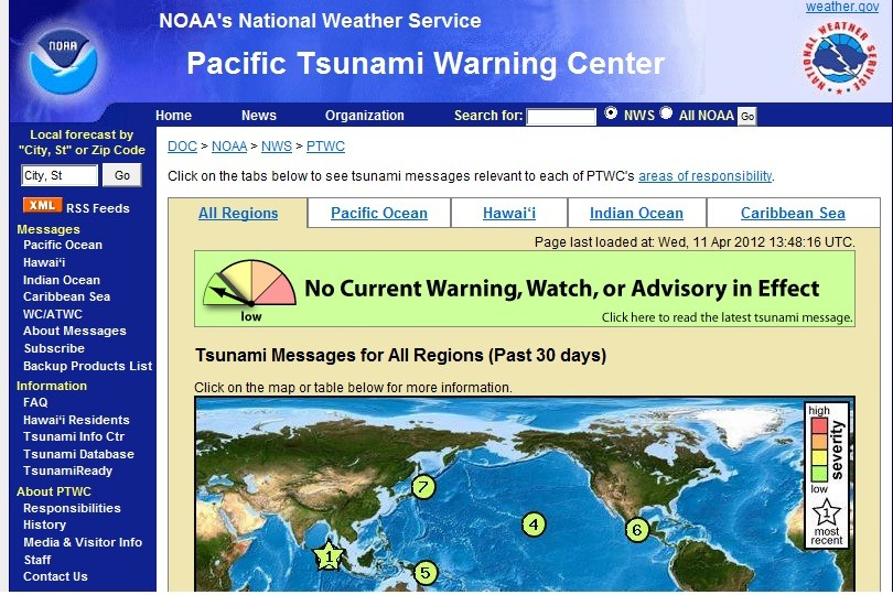 Tsunami Warning Lifted